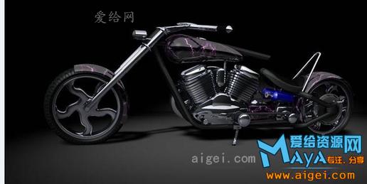 cad摩托车平面模型_摩托车c4d模型下载!_c4d - -3d模型_免费下载 - 爱给网